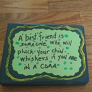 Very Funny friend sign hanging